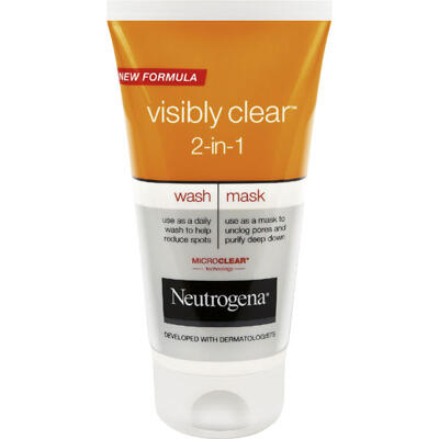 """NEUTROGENA Visibly Clear """"2 in 1"""" Wash Mask 150ml"""
